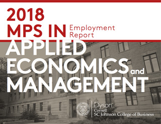 2018 MPS in Applied Economics and Management PDF cover image