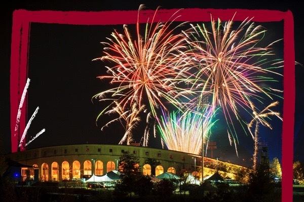 Fireworks over the stadium