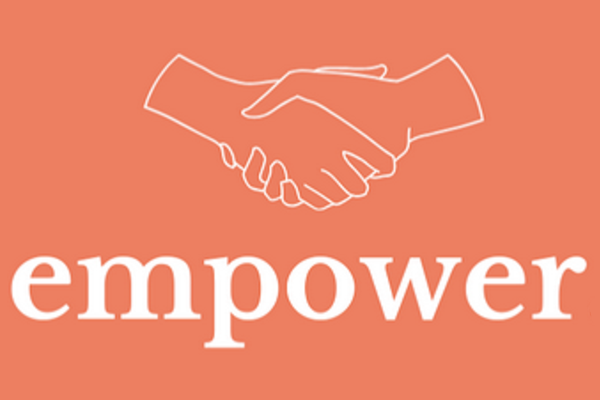 Empower initiative logo, two hands shaking