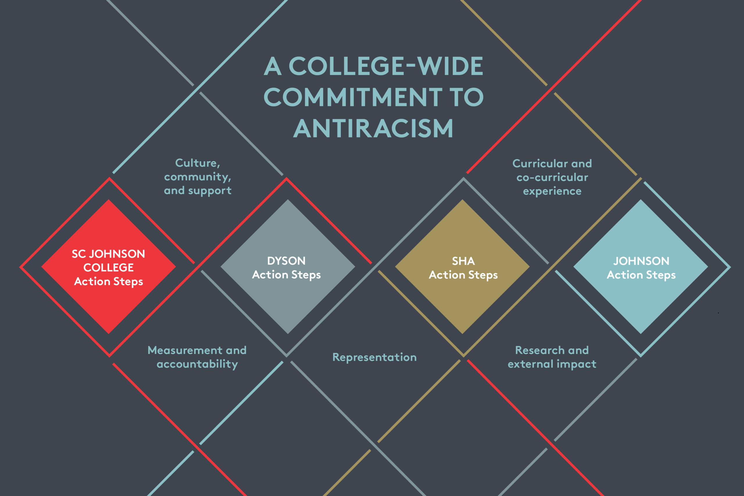 College-Wide Commitment to Antiracism infographic