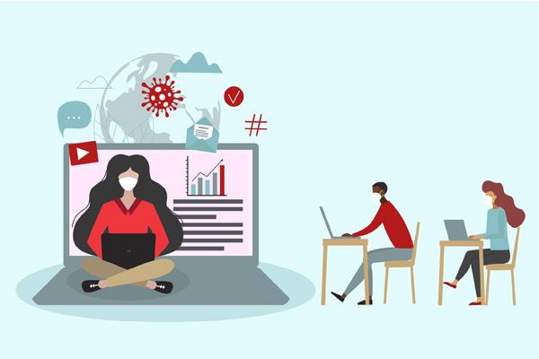 illustration of remote work