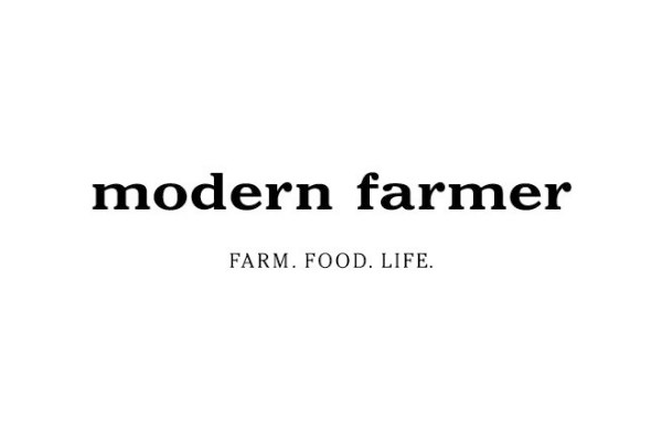 modern farmer logo and slogan farm. food. life